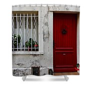 Arles House With Red Door Dsc01806  Shower Curtain