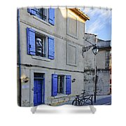 Arles With Bicycle And Moai Dsc01802   Shower Curtain