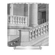 Arlington Memorial Amphitheater  Bw Shower Curtain
