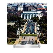 Arlington Memorial Bridge Leads Shower Curtain