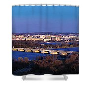 Arlington, Va - Wash D.c. - Panoramic Shower Curtain