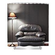 Armchair And Floor Lamp Shower Curtain