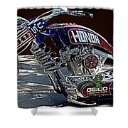 Armed Forces Tribute Bike Shower Curtain