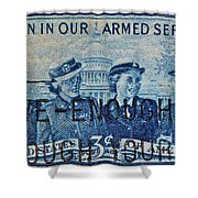 Armed Services Women Stamp Shower Curtain