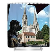 Armor And Chartres Cathedral Shower Curtain