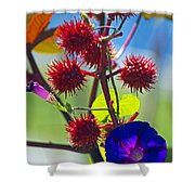 Armored Beauty Shower Curtain