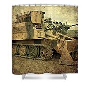 Armoured Power  Shower Curtain