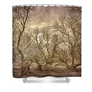 Arms Ghost Forest Shower Curtain