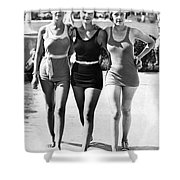 Army Bathing Suit Trio Shower Curtain