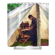 Army - Civil War Officer's Tent Shower Curtain