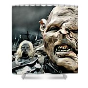 Army Of Orcs Shower Curtain