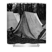 Army Tents Circa 1800s Shower Curtain