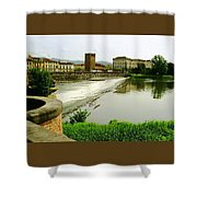 Arno River 1 Shower Curtain