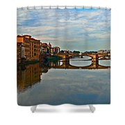 Arno River Shower Curtain