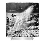 Arnold Palmer At Pebble Beach California Rey Ruppel Photo Circa 1955 Shower Curtain