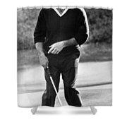 Arnold Palmer Misses A Putt Shower Curtain