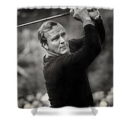 Arnold Palmer Pro-am Golf Photo Pebble Beach Monterey Calif. Circa 1960 Shower Curtain