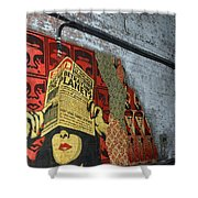 Arnolds And Graffiti Andre The Giant Has A Posse Shower Curtain