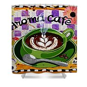 Aroma Cafe Shower Curtain