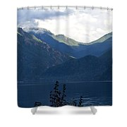 Around Lake Crescent - Washington Shower Curtain