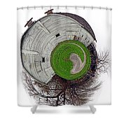 Around The Barn Shower Curtain