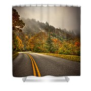 Around The Bend Clouds Along The Blue Ridge Parkway Shower Curtain