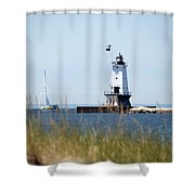 Around The Lighthouse Shower Curtain