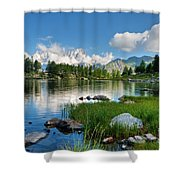 Arpy Lake - Aosta Valley Shower Curtain