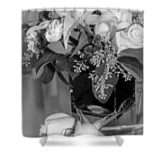 Arrangement In Black And White  Shower Curtain