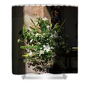 Arrangement Of White Flowers Shower Curtain