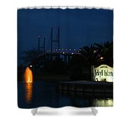 Arrival At Jekyll Island Shower Curtain