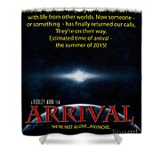 Arrival Faux Movie Poster Shower Curtain