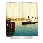 Arrival Of Boulogne Boat Folkestone - England  Shower Curtain