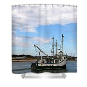 Arriving At The Harbor Shower Curtain