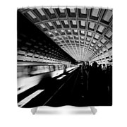 Arriving Metro Shower Curtain