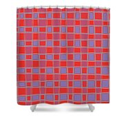 Art 1906 Elegant Graphic Pattern Squares Colorful Digitalart Graphicart Surface Texture Design Multi Shower Curtain