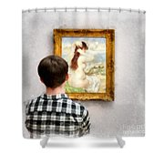 Art Appreciation Shower Curtain