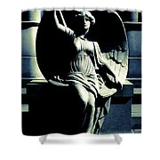 Art Deco Angel Shower Curtain