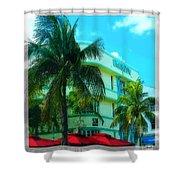 Art Deco Barbizon Hotel Miami Beach Shower Curtain