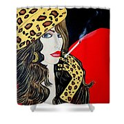 Art Deco Bell Shower Curtain