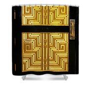 Art Deco Door Shower Curtain