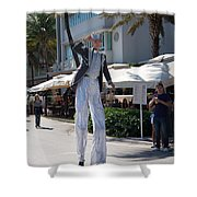 Art Deco Festival Street Scenes Shower Curtain