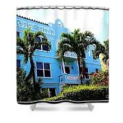 Art Deco Hotel In Miami Beach Shower Curtain