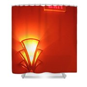 Art Deco Light Exit Sign Fox Tucson Theater Tucson Arizona 2006 Shower Curtain