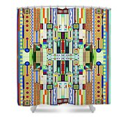Art Deco Stained Glass 2 Shower Curtain