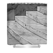 Art Deco Steps In Black And White Shower Curtain