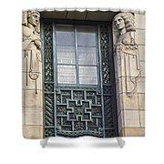 Art Deco Window Shower Curtain