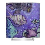 Fish Art Shower Curtain