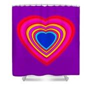 Art Heart Blue Shower Curtain