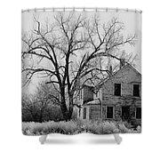 Art Homage Andrew Wyeth Abandoned 1930's Farm House Near Aberdeen South Dakota 1965-2012 Shower Curtain